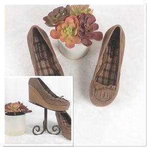 WEDGE LIGHT  BROWN STYLE SHOES BY SARA JAYNE